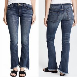 Current/Elliott The Flip Flop Raw Hem Flare Jeans